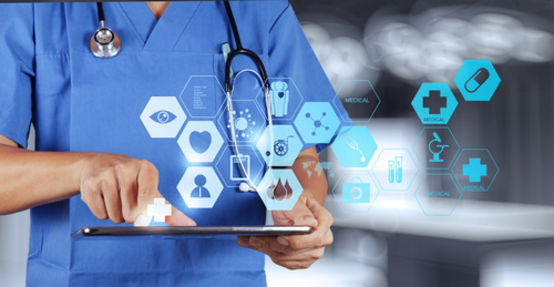 docteur médecine moderne tablette stéthoscope